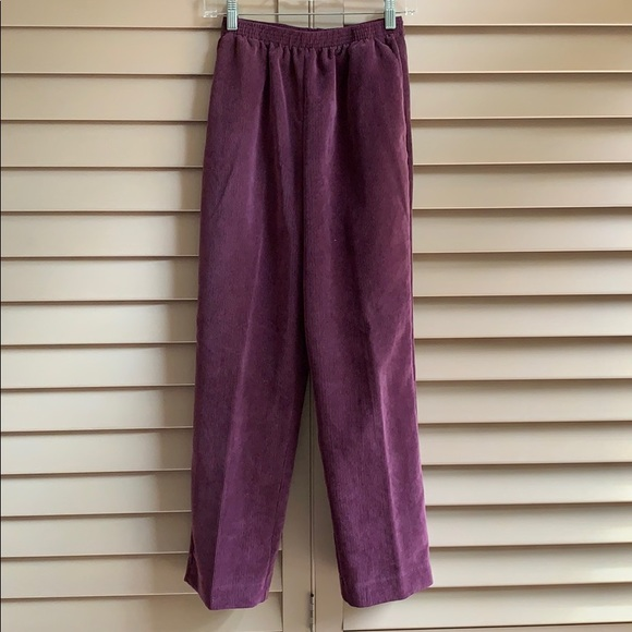 a4a27d54 Petite Purple Corduroy Alfred Dunner Pants Size 6P
